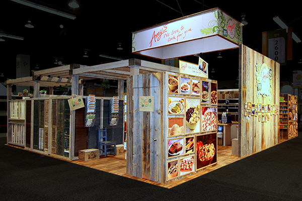 Indoor trade show booth