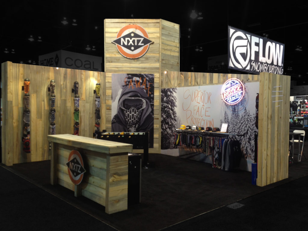 Custom trade show exhibit for outdoor industry