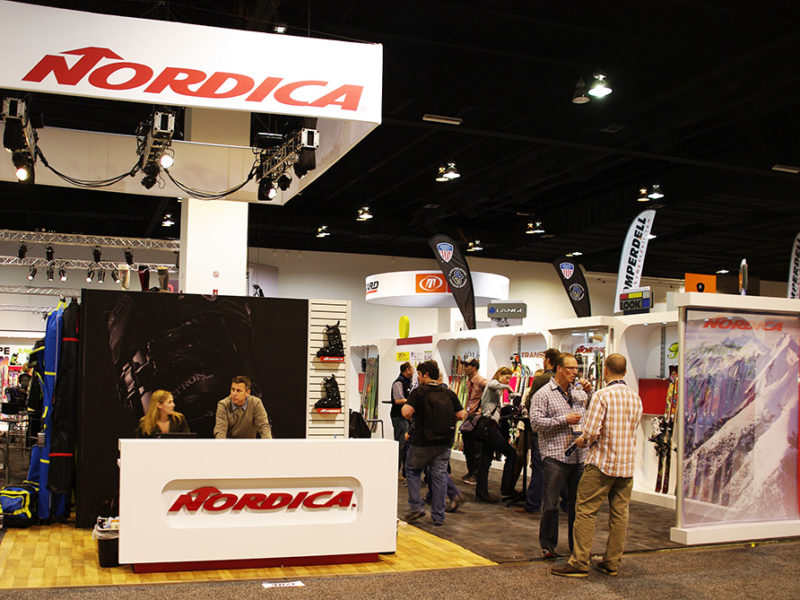 Indoor exhibit displays Nordica