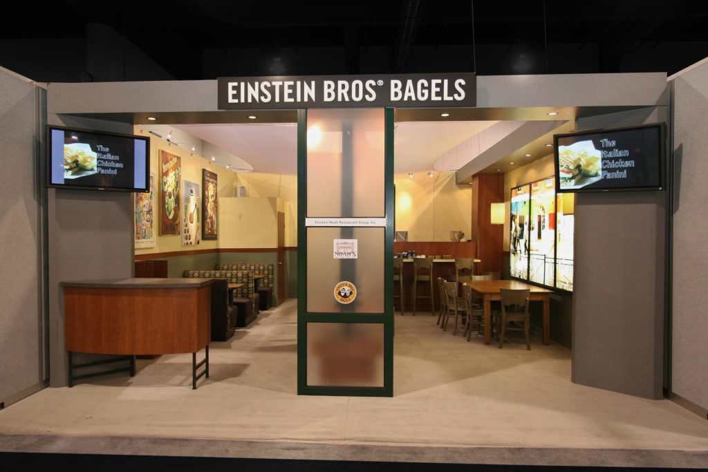 Experiential marketing trade show display Einstein Bros
