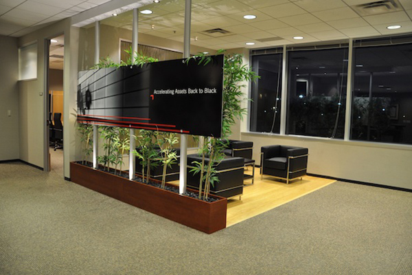 Corporate environment lobby
