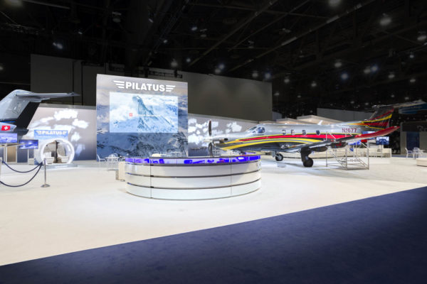NBAA 2017 Pilatus Custom Trade Show Exhibit
